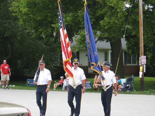 Grandpa in Color Guard