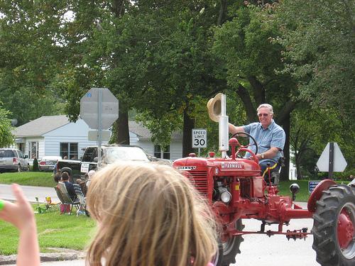 Grandpa Tractoring
