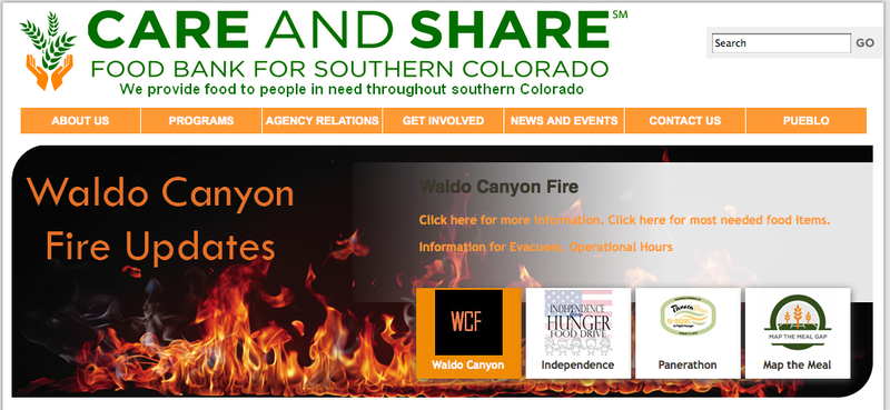 Care and Share in Southern Colorado #WaldoCanyonFire